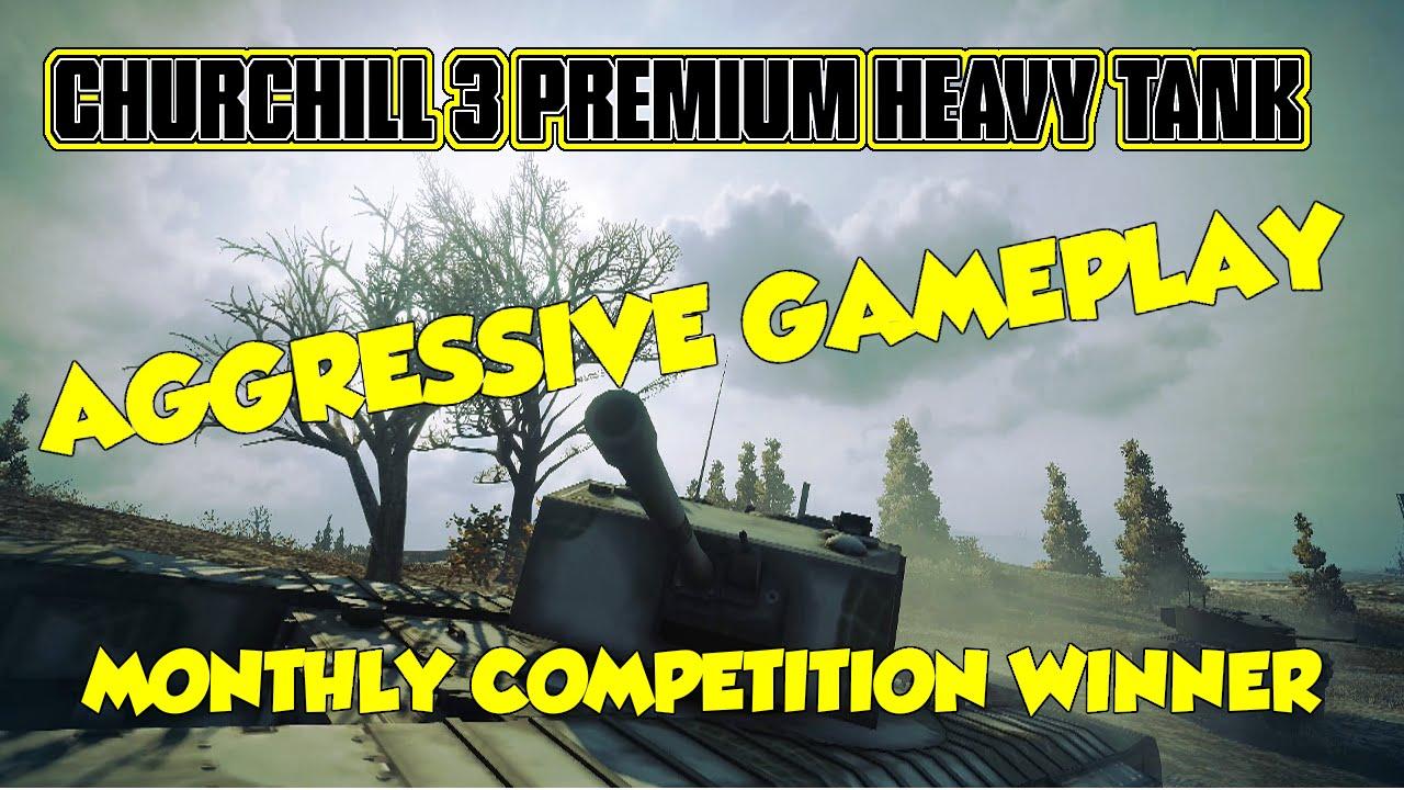 World of Tanks || Churchill 3 Premium Heavy Tanks Aggressive Gameplay  Advice & Analysis
